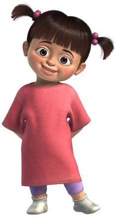 Boo do Monsters Inc - Personagem do Glossário Disney do Disneyria