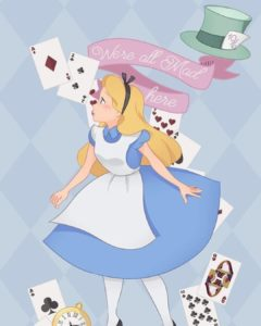 Personagem da Semana Alice no Pais Filosofia Disney no Instagram