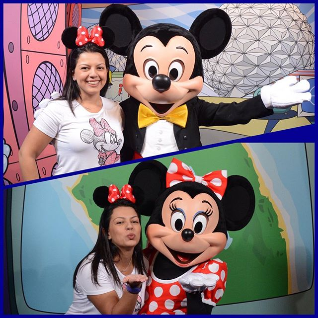 Larissa Cristina e Mickey Mouse no Magic Kingdom - Filosofia Disney no Instagram por Disneyria
